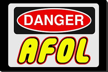 Danger AFOL Sign by Customize My Minifig  by ChilleeW
