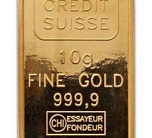 Credit Suisse gold iPhone 4/4s case by Jnhamilt
