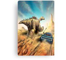 Dinosaur Hunt Metal Print