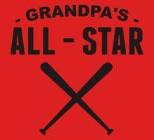 Grandpa's All-Star Baseball Baby Tee
