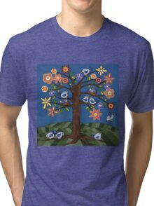 BIRDIE TREE T-SHIRT Tri-blend T-Shirt