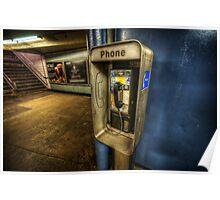 NYC Subway Phone Poster