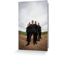 Groom's Men Greeting Card