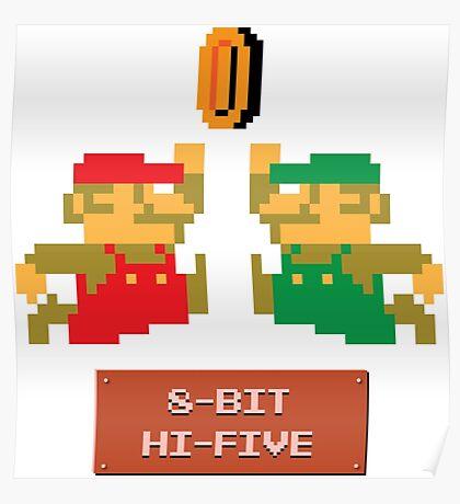 8-Bit Hi-Five Poster