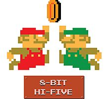 8-Bit Hi-Five Photographic Print