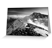 Ben Nevis and the Carn Mor Dearg arête, Scotland. Greeting Card