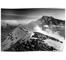 Ben Nevis and the Carn Mor Dearg arête, Scotland. Poster