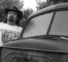 Me and a 47 Ford (self portrait) by GWGantt