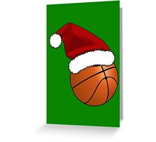 Christmas Basketball Greeting Card