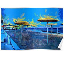 HTO Park Toronto - Umbrellas on the Beach Poster