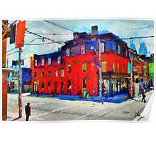 Red Building on King Street East Toronto Poster