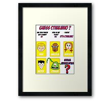 Guess CthulWho? Framed Print