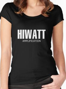 White Hiwatt Amp Women's Fitted Scoop T-Shirt