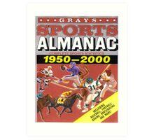 BTTF FRONT COVER ALMANAC Art Print