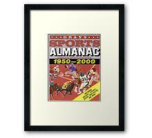 BTTF FRONT COVER ALMANAC Framed Print