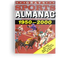BTTF FRONT COVER ALMANAC Metal Print