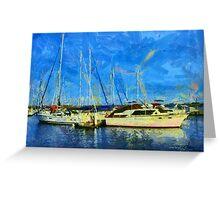Boats on Ontario Lake Greeting Card