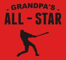 Grandpa's All-Star Baseball Kids Tee