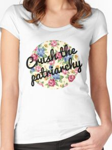 Crush the Patriarchy Women's Fitted Scoop T-Shirt