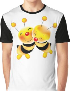Cut-out of bees in love Graphic T-Shirt