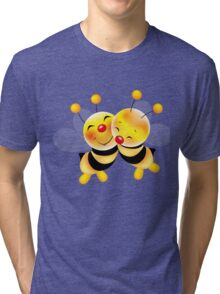 Cut-out of bees in love Tri-blend T-Shirt