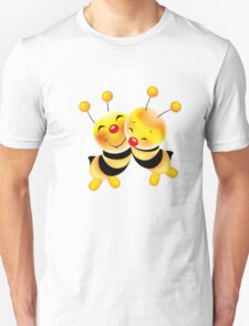 Cut-out of bees in love T-Shirt