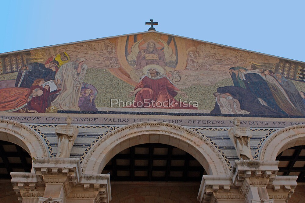 Jerusalem the facade of Church of all Nations by PhotoStock-Isra