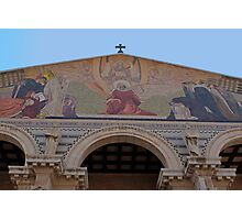 Jerusalem the facade of Church of all Nations Photographic Print