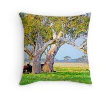 The Gum Tree paddock Throw Pillow