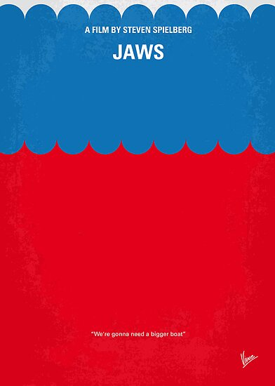 No046 My Jaws minimal movie poster by Chungkong