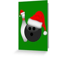 Christmas Bowling Greeting Card