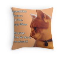 cat challenge winner Throw Pillow