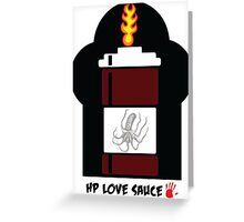 HP Love Sauce - BROWN Greeting Card