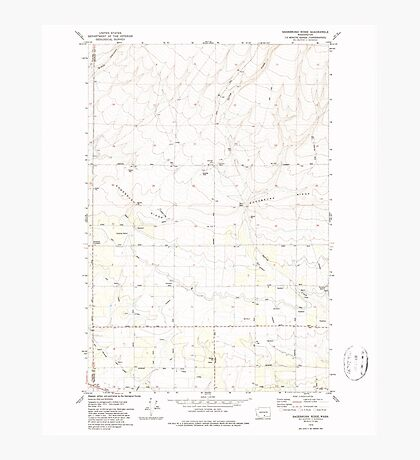 USGS Topo Map Washington State WA Sagebrush Ridge 243558 1979 24000 Photographic Print