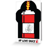 HP Love Sauce - RED Greeting Card