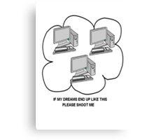 I hate computers Canvas Print