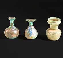 Roman glass bottles and jar 4th century CE  by PhotoStock-Isra