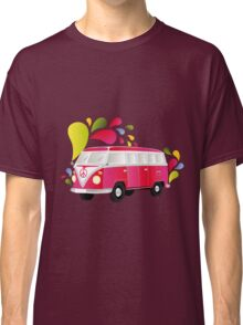 Cut-out of colorful retro splitty Classic T-Shirt