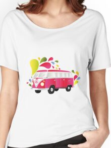 Cut-out of colorful retro splitty Women's Relaxed Fit T-Shirt