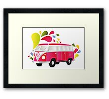 Cut-out of colorful retro splitty Framed Print