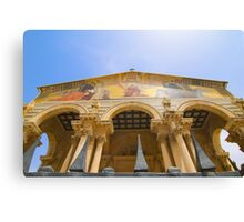 Jerusalem the facade of Church of all Nations Canvas Print