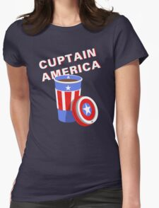 Cuptain America Womens Fitted T-Shirt