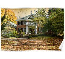 Autumn in Rockliffe Village Poster