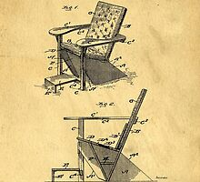 Patent for the first Adirondack Chair 1905 by Edward Fielding