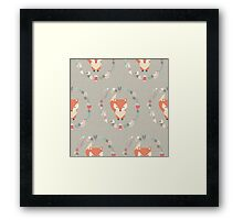 Baby fox pattern 02 Framed Print