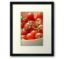 Freshly Picked Cherry Tomatoes  Framed Print