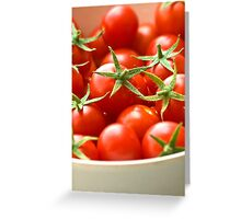 Freshly Picked Cherry Tomatoes  Greeting Card