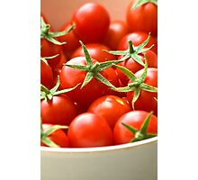 Freshly Picked Cherry Tomatoes  Photographic Print