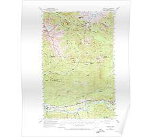 USGS Topo Map Washington State WA Hamilton 241464 1973 62500 Poster