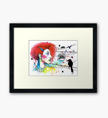 Lora Zombie Framed Print